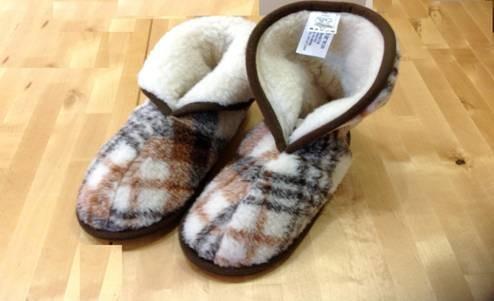 נעלי בית מצמר כבשים מרינו קיימות במידות